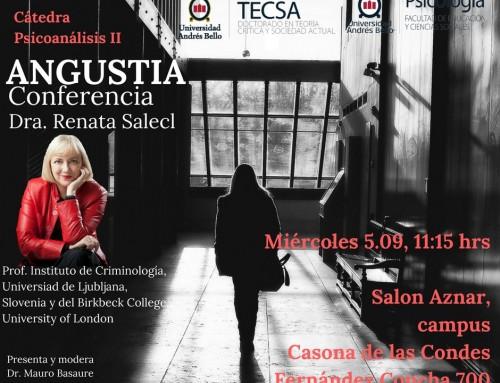 Predavanje Renate Salecl na Univerzi Andresa Bella v Čilu