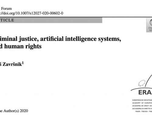 Criminal justice, artificial intelligence systems, and human rights