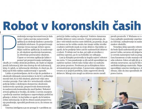 Prispevek dr. Renate Salecl v Sobotni prilogi dela: Robot v koronskih časih
