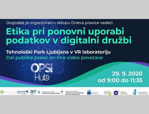 Dr. Aleš Završnik gost dogodka Etika pri ponovni uporabi podatkov v digitalni družbi
