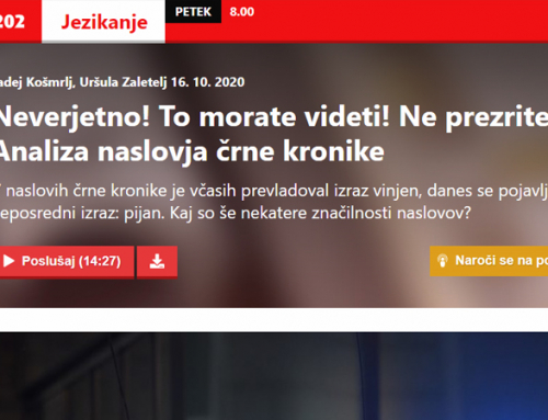 Mladi raziskovalec Marko Drobnjak na Valu 202