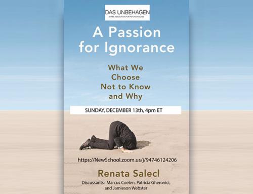 Spletno predavanje Renate Salecl ob izidu najnovejše knjige (video)